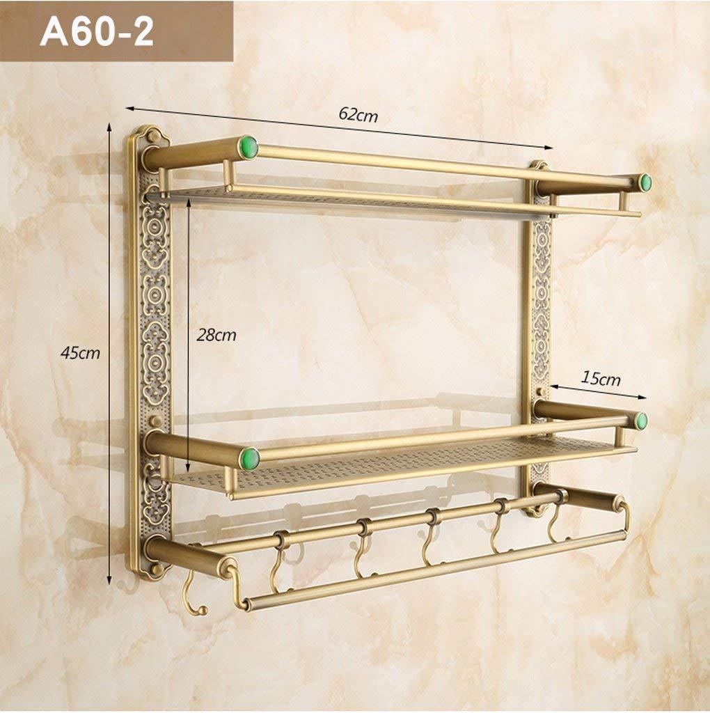 Taille: 40cm BAIF Style europ/éen Tous Les /étag/ères de Salle de Bains r/étro Bronze Multi-Fonction Plus /épais Porte-Serviettes