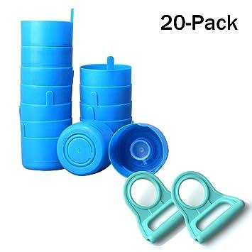 EVNEED 20 Unidades de Tapones antisalpicaduras Reutilizables para Botella de Agua DE 55 mm, 3