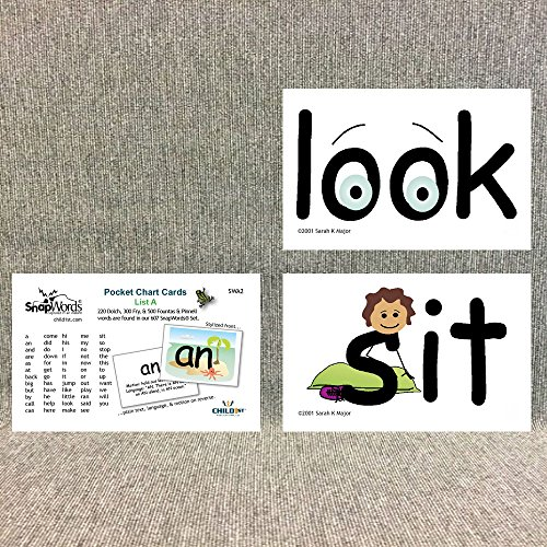 Free SnapWords List A Sight Word Pocket Chart Cards