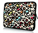 """Colorful Leopard Print Universal 11.6"""" 12"""" 12.1"""" inch Neoprene Tablet Laptop Soft Sleeve Bag Cover Case for 11.6"""" 11.6"""" Acer Aspire One,Apple Macbook Air,Sony VAIO VPCYB3V1E/P,Acer Chromebook C710-2847,ASUS TAICHI,SAMSUNG Series 7 11.6"""" Slate Toshiba Tablet"""