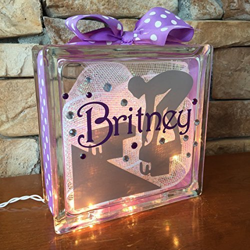 Swimmer GemLight Personalized with Your Name and Colors
