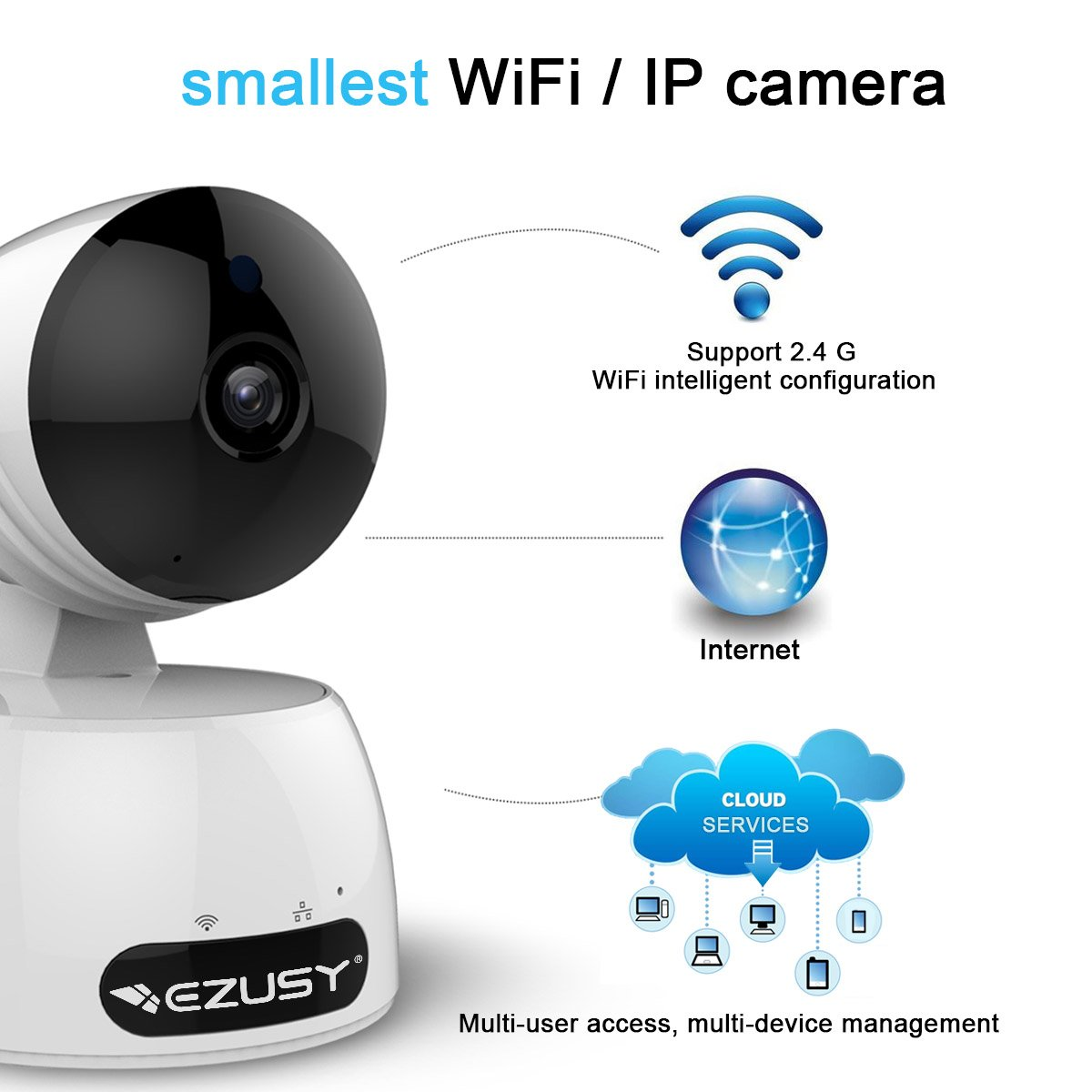 amazon com ezusy 1080p wireless security camera hd wifi security