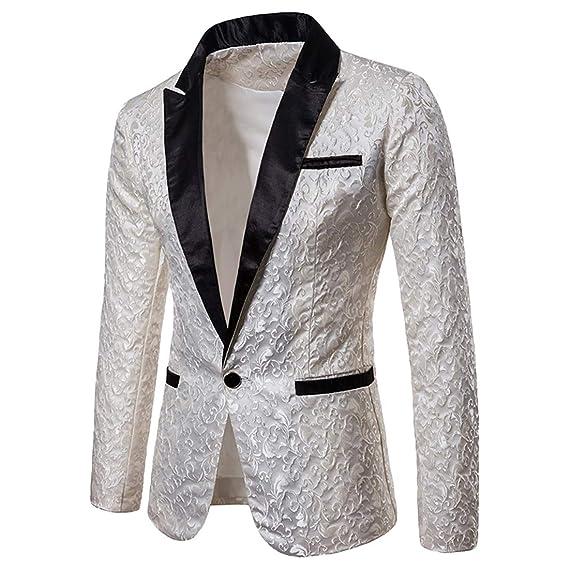 TianBin Giacca Elegante Vestito da Uomo Regular Fit Abiti