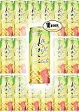 La Croix Pina Fraise, Pineapple Strawberry Flavored Naturally Essenced Sparkling Water, 12oz Tall Can (Pack of 18, Total of 216 Oz)