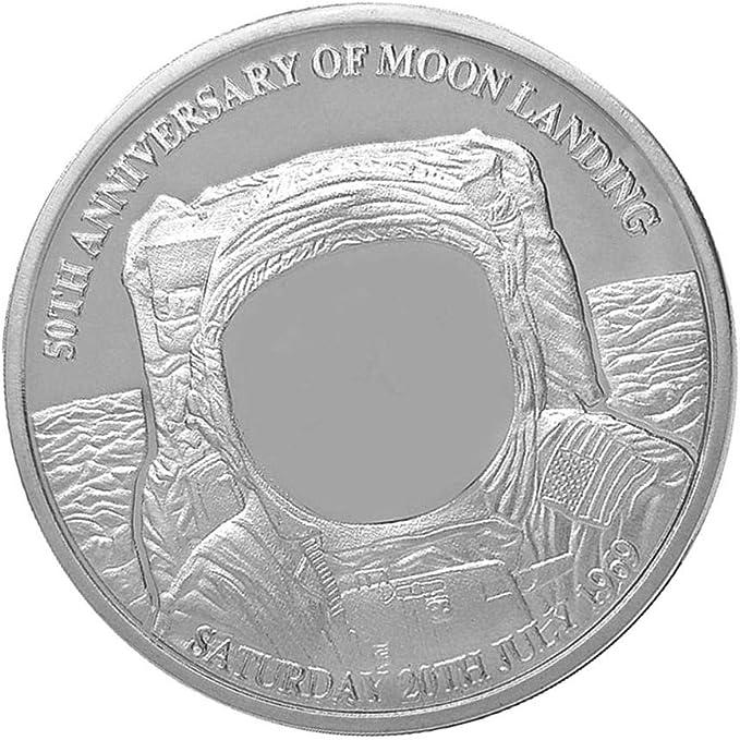 Sharplace Moneda Conmemorativa Chapada en Oro Estampado de Aterrizaje Lunar 40mm - Plata: Amazon.es: Juguetes y juegos