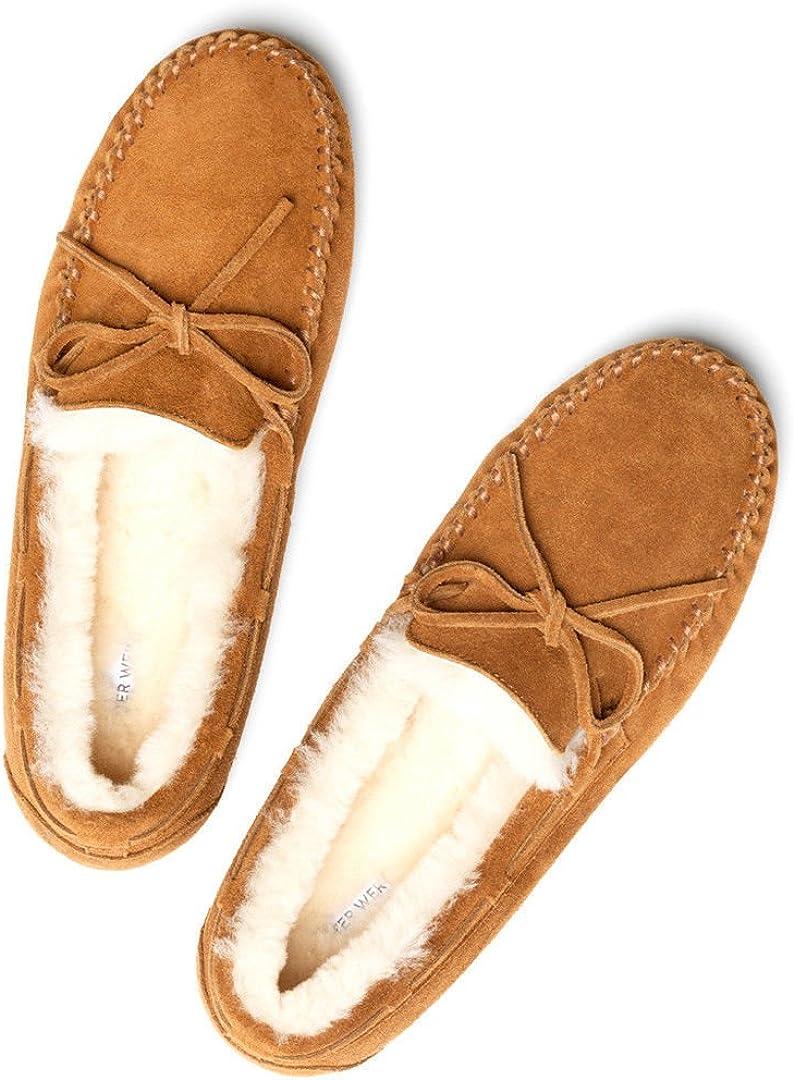 Plum Deluxe Ladies Split Seam Sheepskin Heeled Soft Sole Slipper Free Return
