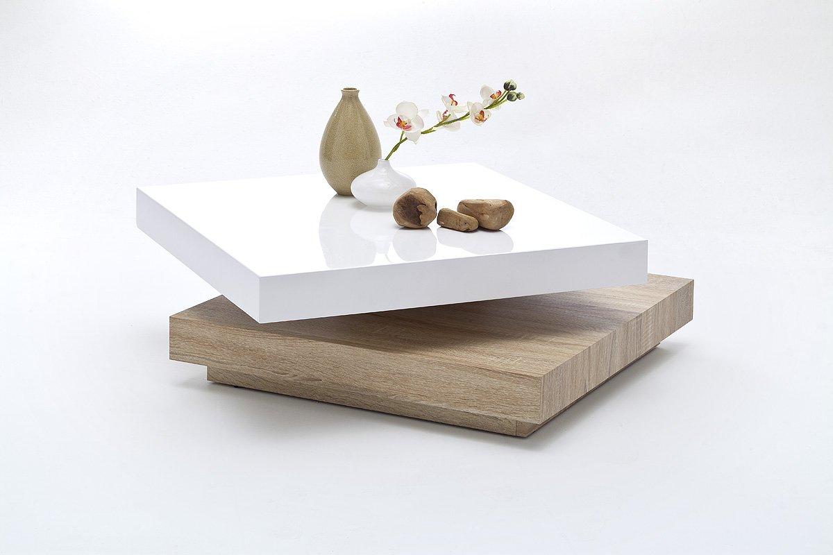 Wohnzimmertisch Weiss Hochglanz : Couchtisch wohnzimmertisch sofatisch weiss hochglanz mm platte