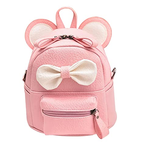 Amazon.com   ABage Girl s Mini Backpack Purse Cute Lightweight PU Leather  Travel Daypacks, Pink2   Backpacks 6d3505c10f