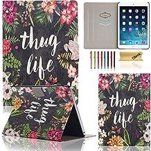 iPad Mini Case,Dteck(TM) Simplicity Portable Colorful Painted Doodle Pattern Cover[Auto Wake/Sleep Function] Folio Flip Stand Smart Case for Apple iPad Mini 3/2/1 (01 Thug Life)