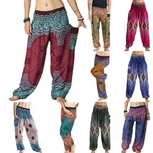 Codice Donna Hippy 10 Donna Yoga e per Pantaloni Blu Medio Kootk colori Pantaloni BvqwO5C