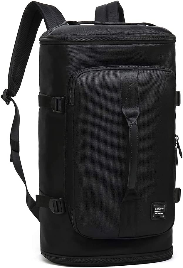 doKool Sport Duffel Laptop Backpack with Shoe Compartment Black