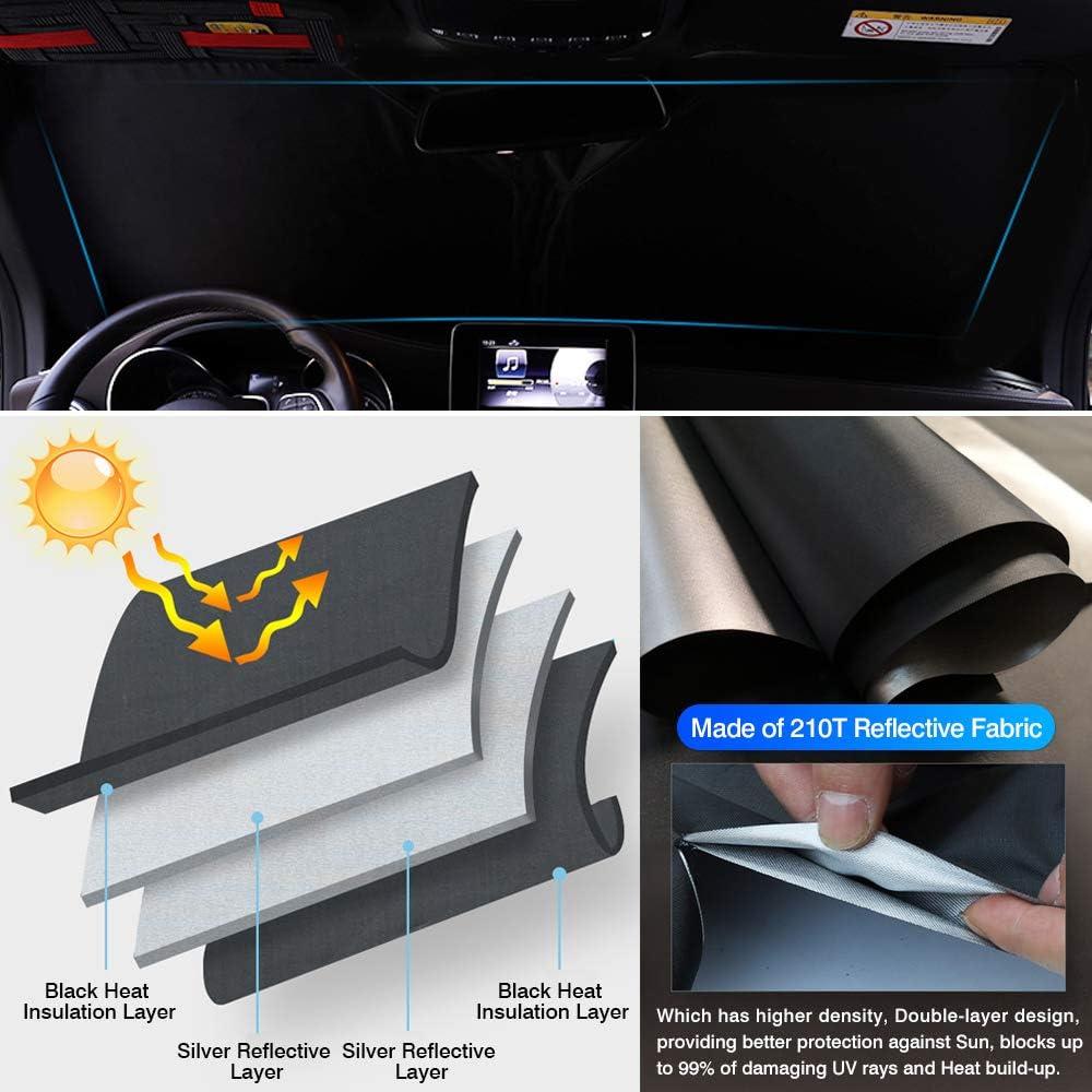 KUST Windshield Sun Shade Blocks UV Rays Sun Visor Protector Foldable Sunshade for Toyota Corolla Sedan 2018-2021 Keep Your Car Cooler