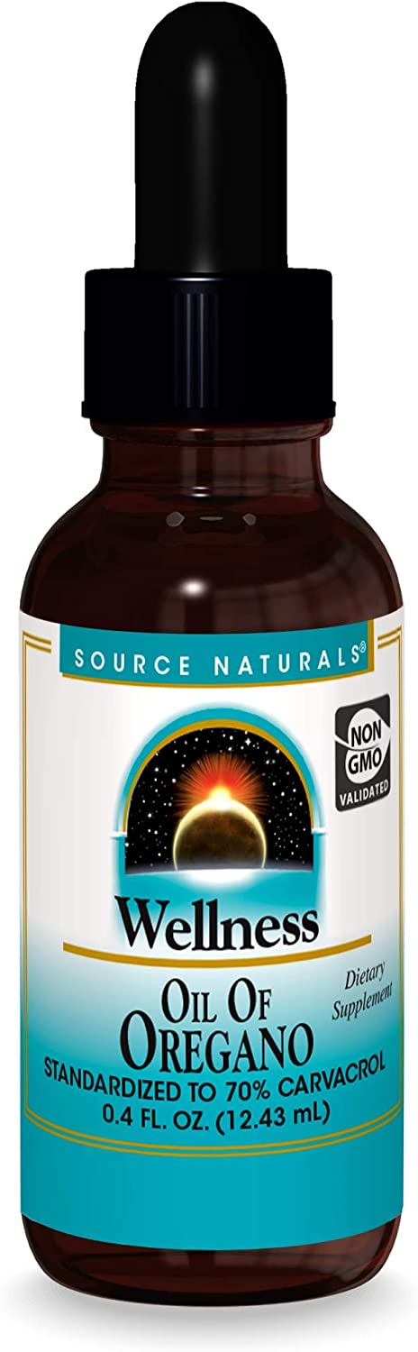Source Naturals Wellness Oil of Oregano - Standardized to 70% Carvacrol - 0.4 Fluid oz
