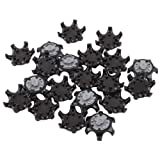 Ownsig 20Pcs Black Easy Replacement THiNTech Spikes Cleats Golf Shoes Spikes