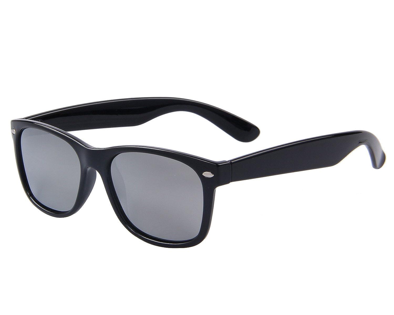 5dc230f90d MERRY S Retro Rewind Classic Polarized Wayfarer Sunglasses S683 (Sliver