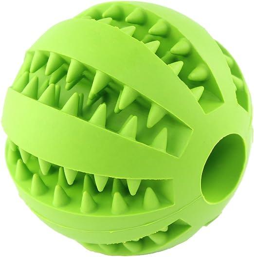 Juguetes para perros de la marca Kyerivs; pelota de goma flexible ...