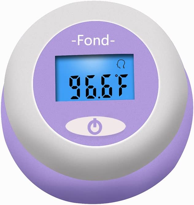 Suitable for Home All Age Blue Backlight Measure Temperature in 1s C//F Switchable 12 Memory FOND Baby Rechargeable Forehead Thermometer