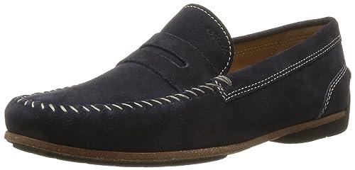 Geox U Luca A - Mocasines de ante para hombre azul azul 40: Amazon.es: Zapatos y complementos