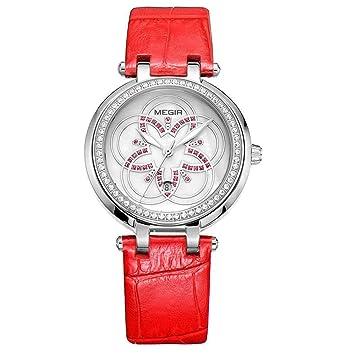 North King Relojes de Cuarzo Relojes Pantalla Reloj Mujer Moda Elegancia para Regalo de cumpleaños de