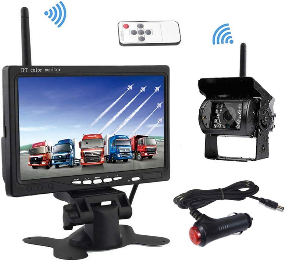 Drahtlose Rückfahrkamera Podofo 7 Hd Tft Lcd Rückansicht Monitor Wasserdichte Rückfahrkamera Für Lkw Rv Auto