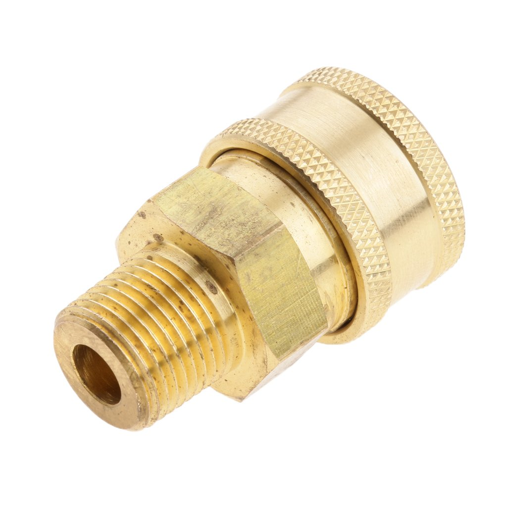 MagiDeal Female To 3/8 Male Socket Brass Pressure Washer Quick Connect Fitting 0576001850020ITA