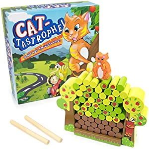 Cat-tastrophe! Children's Dexterity Game, Classic Wood Family Board Game by Imagination Generation