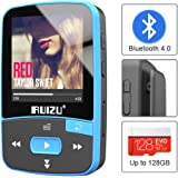 RUIZU X50 Bluetooth 4.0 Mp3 Player, Portable Clip Sport Mp3 Music Player for Running with FM Radio and Pedometer, Support Up to 128GB (Blue)