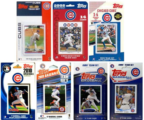 MLB Chicago Cubs 7-Different Licensed Trading Card Team Set from C&I Collectables