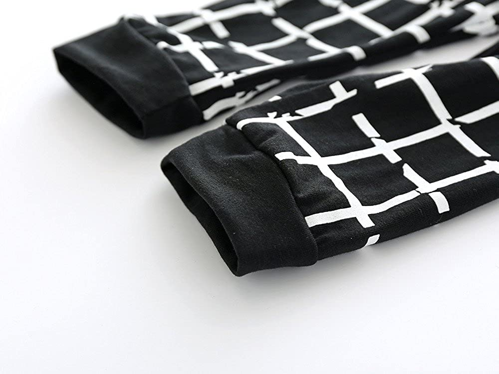 Pants Fenleo 3Pcs Newborn Toddler Baby Boys Girls Printed Short Sleeve T-Shirt Tops Headband Summer Outfit Set