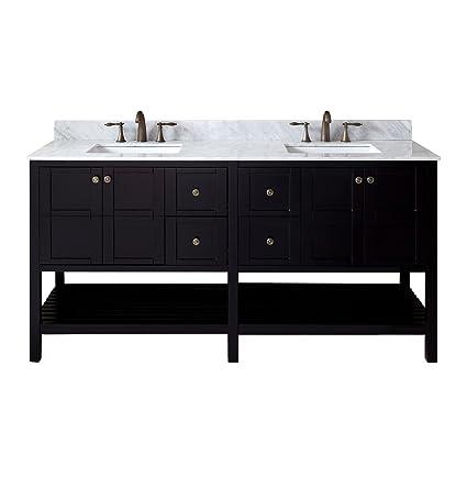 Amazon Com Winterfell 72 Double Bathroom Vanity In Espresso With