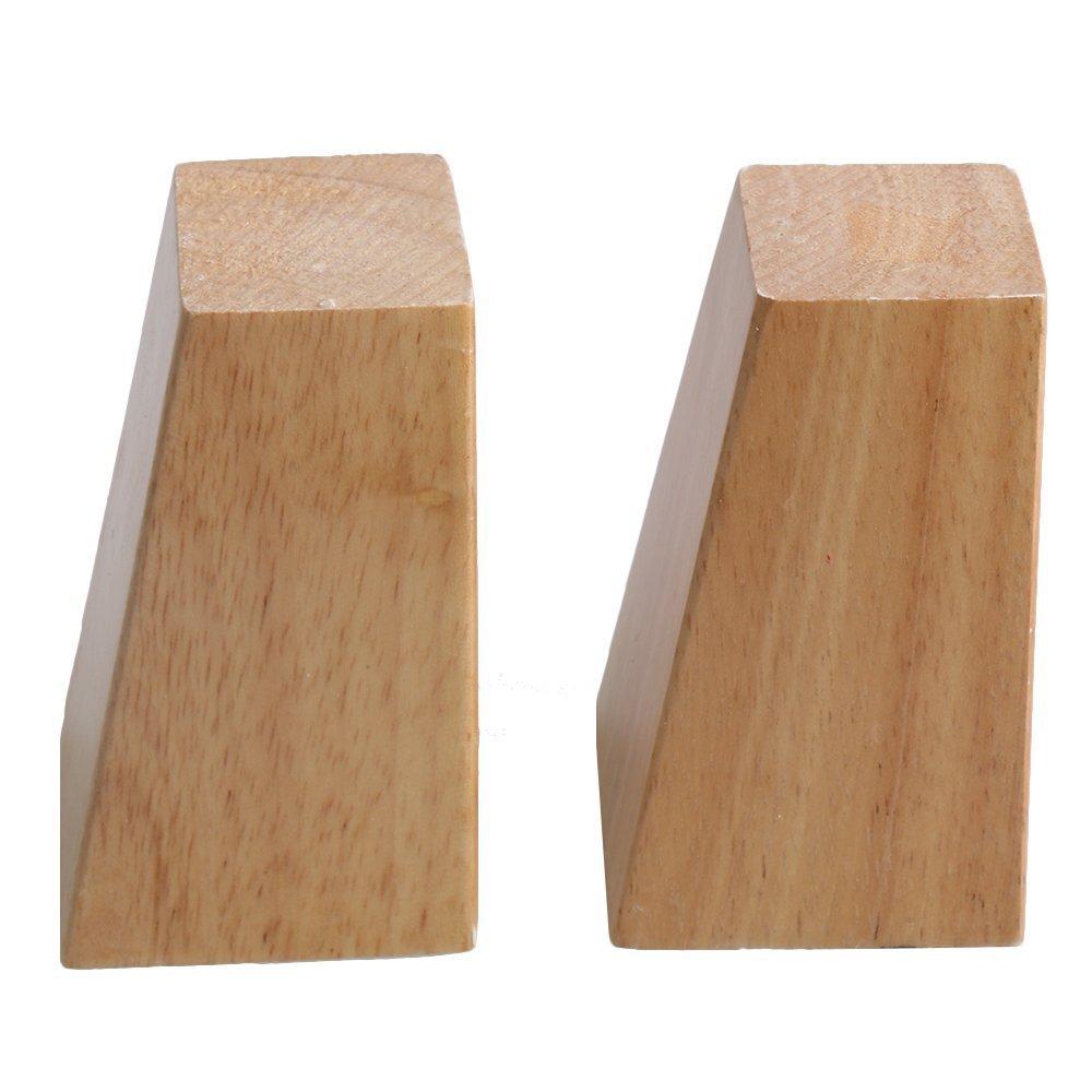 4PCS 120mm Height Sofa Legs Oak Wood Furniture Legs Couch Dresser Armchair Feet Burlywood