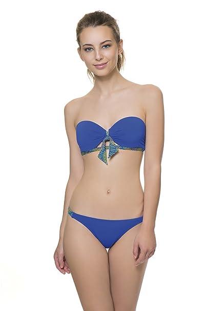 968b874fbe COCÖA top de bikini copa B bandeau con tirantes desmontables. Detalle de  lazo en el