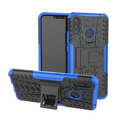 XINYUNEW Funda Huawei P Smart Plus, 360 Grados Protective+Pantalla de Vidrio Templado Caso Carcasa Case Cover Skin móviles telefonía Carcasas Fundas ...