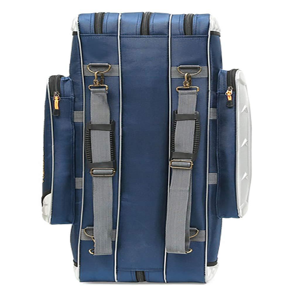 Rutentasche-Angelrute Rutentasche-Angelrute Rutentasche-Angelrute Tasche Fall Wasserdicht mit 3 Fächer Große Kapazitäts Segeltuch 80 90 100 120cm Blau Grün B07QKS3CBG Ruckscke eine breite Palette von Produkten f13005