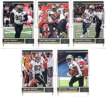 huge selection of 738d1 249ec Amazon.com: 2017 Score New Orleans Saints Team Set of 10 ...