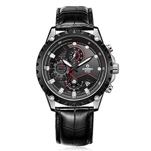 CASIMA - Reloj de pulsera deportivo para hombre, 100 m, resistente al agua,