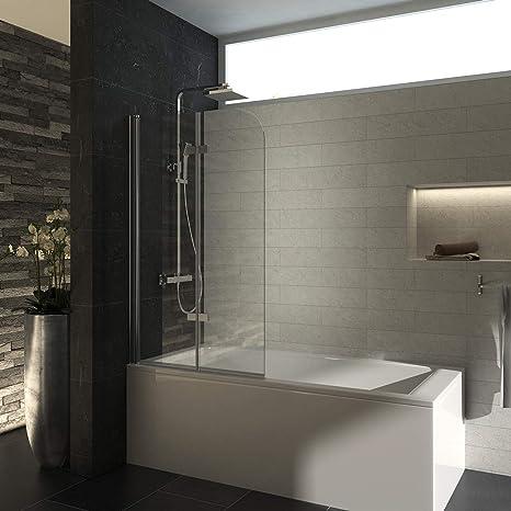 Meykoe - Mampara de ducha con panel plegable para bañeras con ...