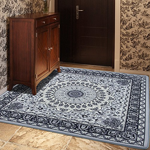 Cheap MeMoreCool Well-Designed Exotic Rustic Large Rug, Boho Style Square Living Room/Bedroom Carpet,Luxury Designer Anti-Slip Mats 79X79 Inch
