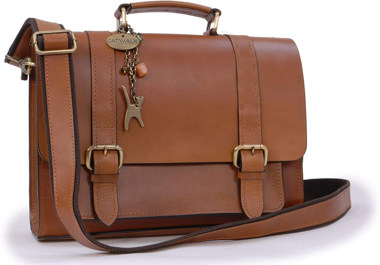 Cuir V/éritable Catwalk Collection Handbags Femme CLAUDIA Sac Port/é Main//Sac /à Main//Sac port/é /épaule