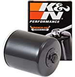 K&N Motorcycle Oil Filter: High Performance Black Oil Filter with 17mm nut designed to be used with synthetic or…