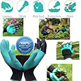 Garden Genie Gloves Right Hand Claws Quick Easy to Nursery Digging Planting and Safe for Rose Pruning - As Seen On TV