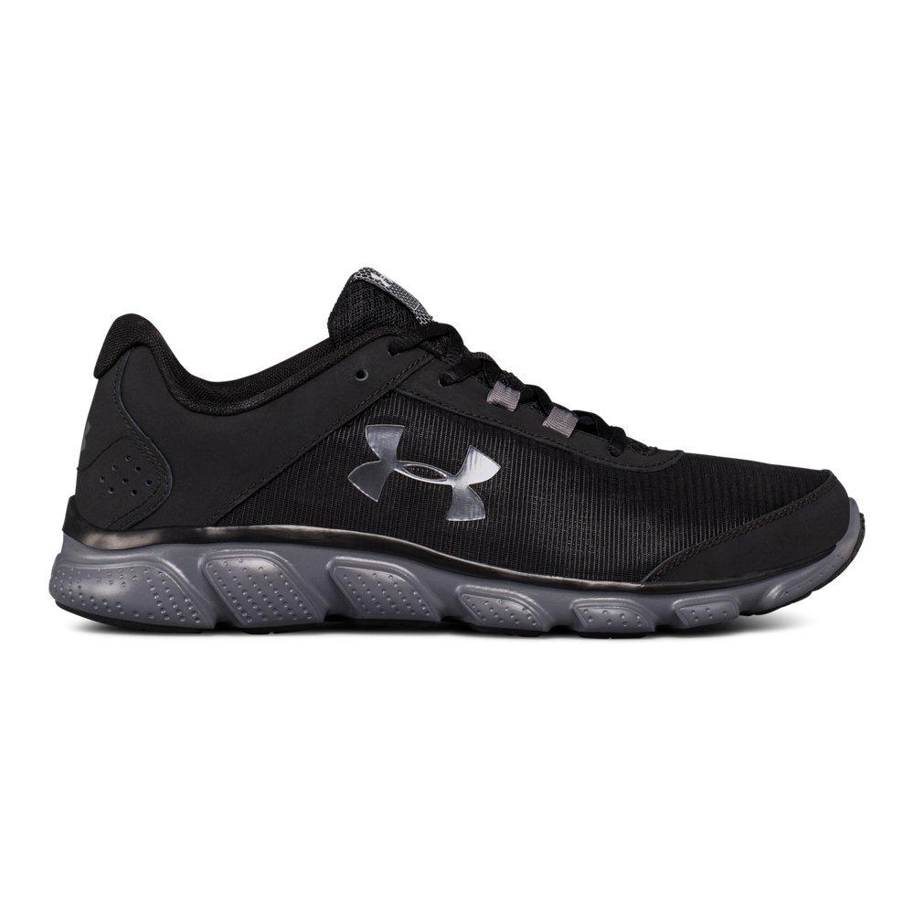 Under Armour Men's Micro G Assert 7 Running Shoe, Black (002)/Rhino Gray, 13 M