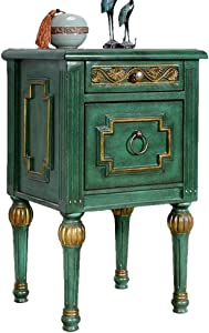Europe Type Corner Table for Sitting Room Square End Table Bedside Table Malachite Green