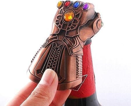boogift Abrebotellas Abrido,Thanos Gauntlet Abridor Botellas,Abridor de Botellas de Cerveza Thanos Genial Regalo para Hombre Accesorios de Bar