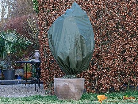Nature Lot de 3 Housses d\'hivernage en polypropylène Beige 50gr/m² Ø50x100cm
