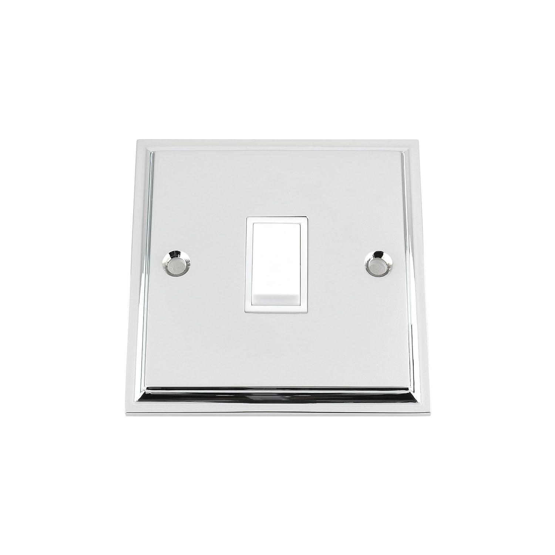 4 Gang 2 Way Philex Light Switch Victorian Polished Chrome