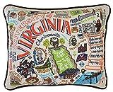 VIRGINIA UNIVERSITY OF COLLEGIATE EMBROIDERED PILLOW - CATSTUDIO