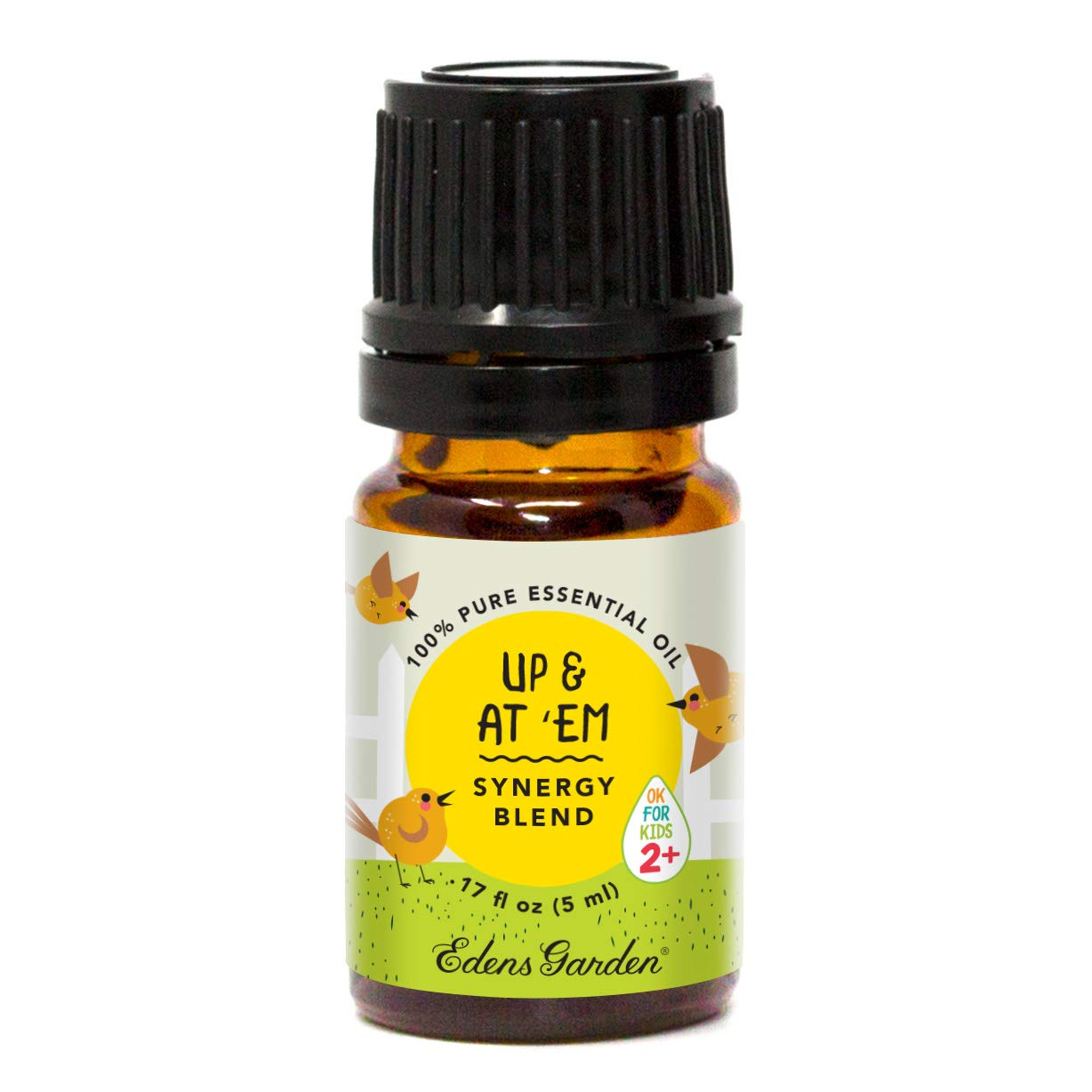 """Edens Garden Up & At 'Em""""OK For Kids"""" Essential Oil Synergy Blend, 100% Pure Therapeutic Grade (Child Safe 2+, Energy & Stress) 5 ml"""
