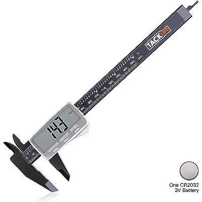 TACKLIFE-DC01-Calibre Digital Plástico de 0-150mm/ Pie de Rey Calibrador Micrómetro de pantalla LCD conversión métrica Vernier Digital Calibre diámetro interior, exterior, la profundidad y escalera
