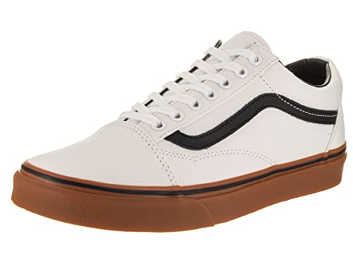 be05d83e1f Vans Unisex Old Skool (Gum) Blanc De Blanc and Black Sneakers - 8 UK ...